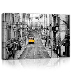 Yellow Tram Canvas Schilderij PP10330O4