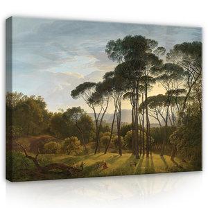 Rijksmuseum Canvas Italiaans Landschap met parasoldennen Hendrik Voogd RMC1