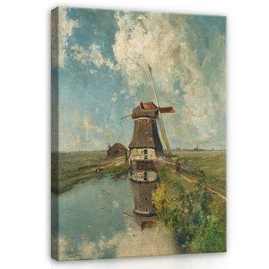 Rijksmuseum Canvas Molen Poldervaart in de maand Juli RMC16