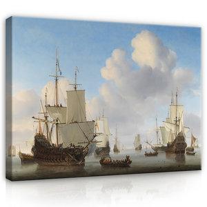 Rijksmuseum Canvas Hollandse Schepen Willem van de Velde RMC17