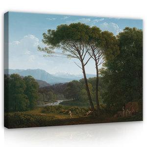 Rijksmuseum Canvas Italiaans Landschap met Pijnbomen Hendrik Voogd RMC37