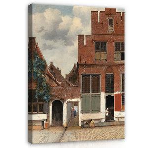 Rijksmuseum Canvas Gezicht op Huizen in Delft Johannes Vermeer RMC40