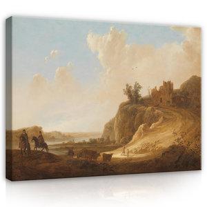 Rijksmuseum Canvas Bergachtig Landschap met kasteelruine RMC53