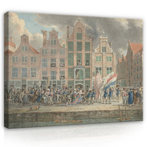 Rijksmuseum Canvas Anti-Engelse Demonstratie Rotterdam RMC61