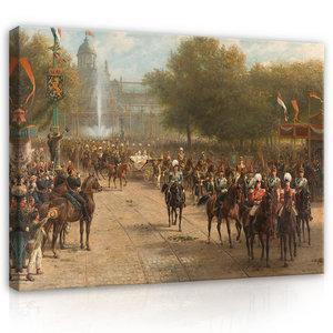 Rijksmuseum Canvas Intocht Koningin Wilhelmina 1898 Amsterdam RMC63