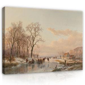 Rijksmuseum Canvas Bevroren Vaart bij de Maas 1867 RMC65
